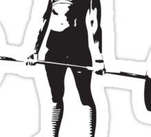 Break Down Barriers, Ignore Limits (Women's Workout Motivation) Sticker