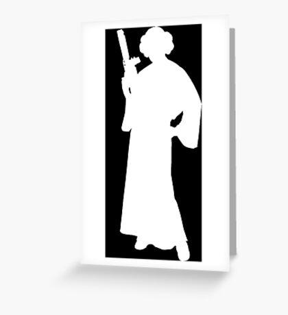Star Wars Princess Leia White Greeting Card