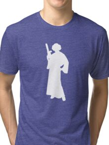 Star Wars Princess Leia White Tri-blend T-Shirt