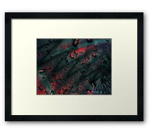 Red Abstract Lined Framed Print