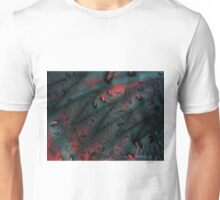 Red Abstract Lined Unisex T-Shirt