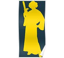 Star Wars Princess Leia Yellow Poster