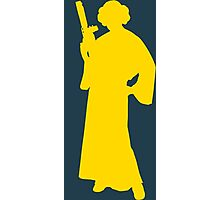 Star Wars Princess Leia Yellow Photographic Print