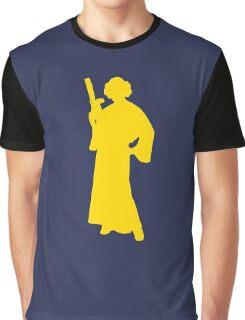 Star Wars Princess Leia Yellow Graphic T-Shirt