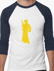 Star Wars Princess Leia Yellow Men's Baseball ¾ T-Shirt