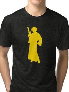 Star Wars Princess Leia Yellow Tri-blend T-Shirt