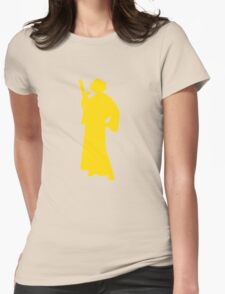 Star Wars Princess Leia Yellow Womens Fitted T-Shirt