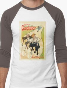 Cycles Gladiator vintage French bicycle advertising Men's Baseball ¾ T-Shirt