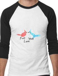 Find Your Love (Kissing Birds) Men's Baseball ¾ T-Shirt