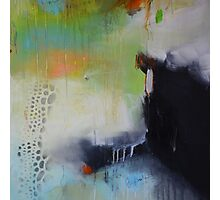 Black and green painting, abstract print  Photographic Print