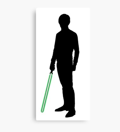 Star Wars Luke Skywalker Black Canvas Print