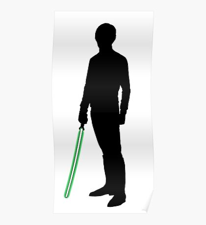 Star Wars Luke Skywalker Black Poster