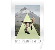 ChristopheRAPTOR Walken - Christopher Walken Velociraptor Poster