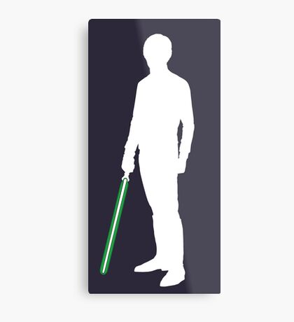 Star Wars Luke Skywalker White Metal Print