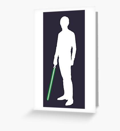 Star Wars Luke Skywalker White Greeting Card