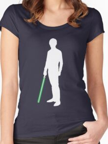 Star Wars Luke Skywalker White Women's Fitted Scoop T-Shirt