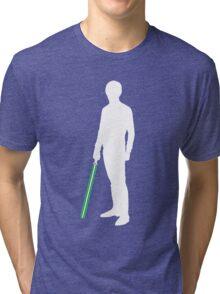 Star Wars Luke Skywalker White Tri-blend T-Shirt