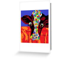Calico Cow Greeting Card