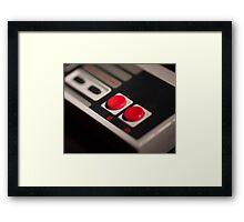 NES Controller Art Photograph Framed Print