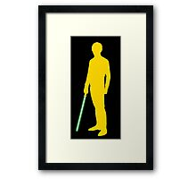 Star Wars Luke Skywalker Yellow Framed Print