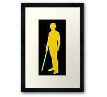 Star Wars Luke Skywalker Yellow Framed Print
