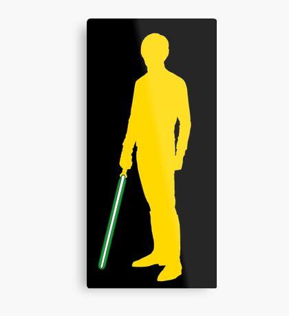 Star Wars Luke Skywalker Yellow Metal Print