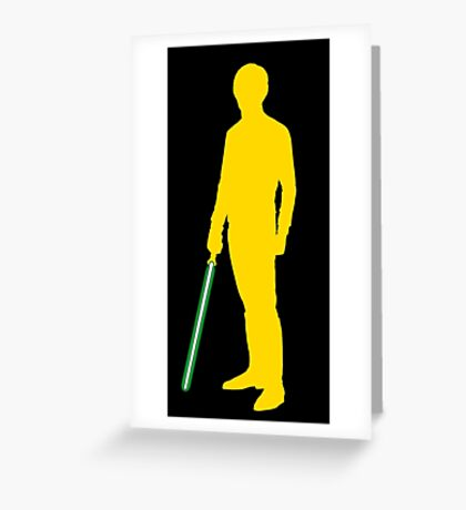 Star Wars Luke Skywalker Yellow Greeting Card