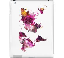 World Map roses iPad Case/Skin