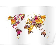World Map 2045 Poster