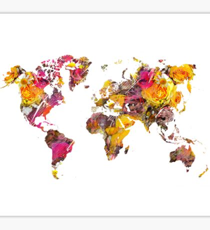 World Map 2045 Sticker