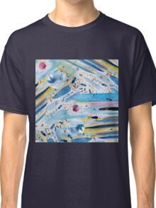 Watercolor hand paint abstract art Classic T-Shirt