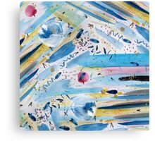 Watercolor hand paint abstract art Canvas Print