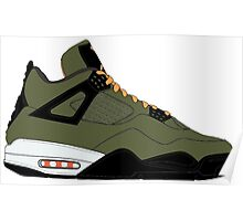 "Air Jordan IV (4) ""Undefeated"" Poster"