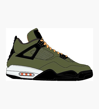 "Air Jordan IV (4) ""Undefeated"" Photographic Print"