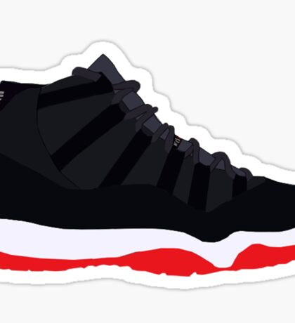 "Air Jordan XI (11) ""Bred"" Sticker"