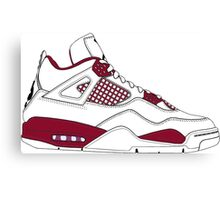 "Air Jordan IV (4) ""Alternate 89"" Canvas Print"