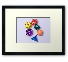 D&D dice Framed Print
