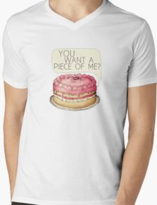 You Want A Piece Of Me? Layer Cake Mens V-Neck T-Shirt