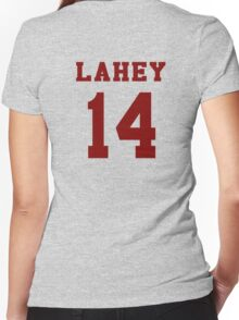 Lahey 14 - Maroon ink Women's Fitted V-Neck T-Shirt
