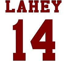 Lahey 14 - Maroon ink Photographic Print