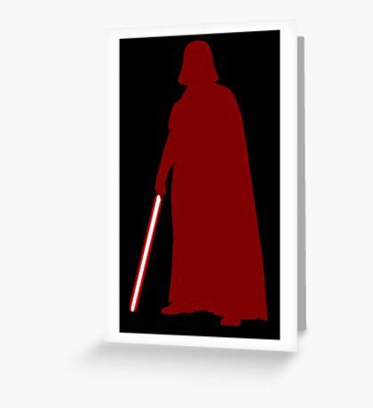 Star Wars Darth Vader Red Greeting Card