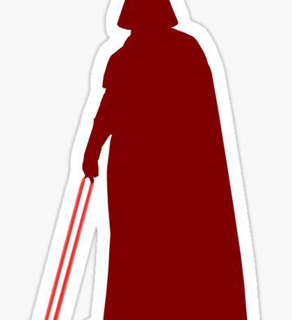 Star Wars Darth Vader Red Sticker