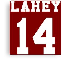 Lahey 14 - White ink Canvas Print
