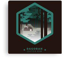 Dagobah - Outer Rim Emblem - Star Wars Canvas Print