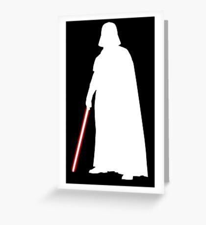 Star Wars Darth Vader White Greeting Card