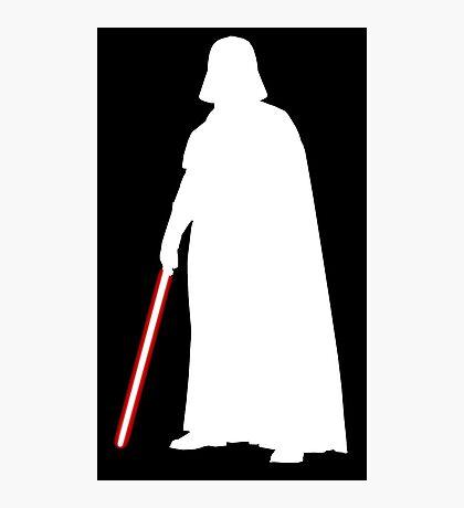 Star Wars Darth Vader White Photographic Print