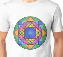 Stained Glass Mandala Unisex T-Shirt