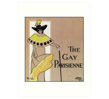 The Gay parisienne, Victorian British theatre advert Art Print