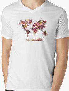 world map 2032 Mens V-Neck T-Shirt