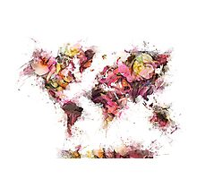 world map 2032 Photographic Print